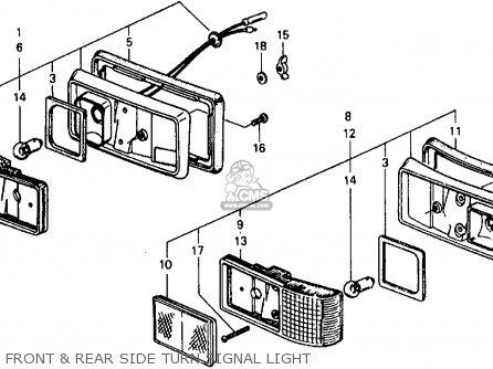 Honda Civic Sdn/wgn 1978 2dr1500 (ka,kh,kl) parts list