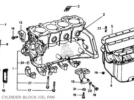 Honda Civic Sedan 1975 2dr1500 (ka) parts list partsmanual