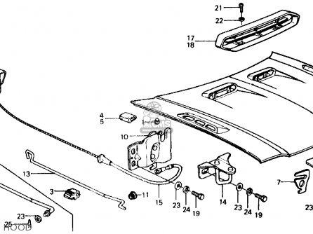 Honda CIVIC SEDAN 1975 2DR1500 (KA) parts lists and schematics