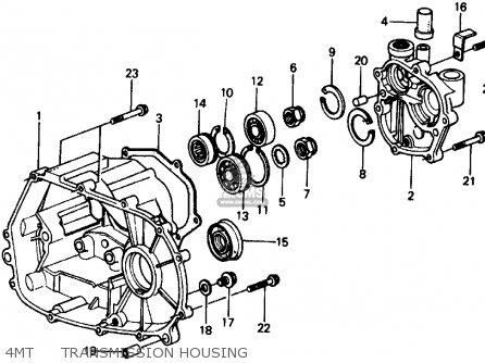 Honda Civic Sedan 1975 3dr1500 (ka,kl) parts list