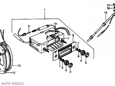 Honda CIVIC SEDAN 1977 2DR1500 (KA,KH,KL) parts lists and