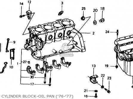 Honda Civic Sedan 1977 2dr1500 (ka,kh,kl) parts list