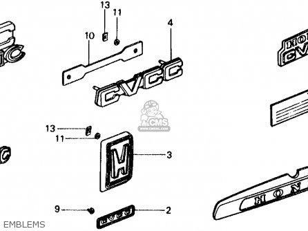 Honda CIVIC WAGON 1976 WGN (KA,KL) parts lists and schematics