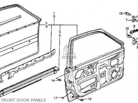 Honda Civic Wagon 1987 Wgn Dx (ka,kl) parts list