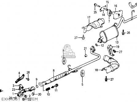 Honda Civic Wagon 1987 Wgn Wv (ka,kl) parts list