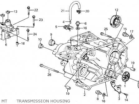 Honda Civic Wagon 1988 Wgn 4wd 1600 ka kl Mt Transmission