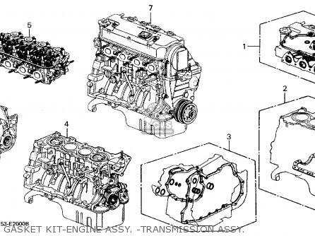 Honda Civic Wagon 1989 (k) Wgn 4wd 1600 (ka,kl) parts list