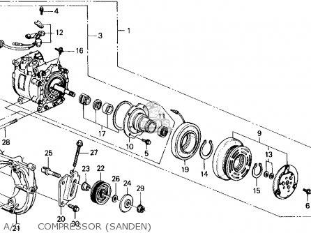 Honda Civic Wagon 1989 Wgn 4wd 1600 (ka,kl) parts list