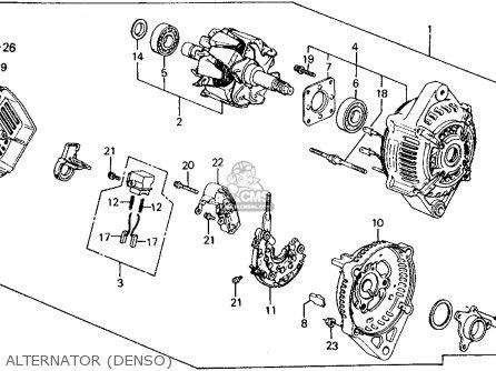 Honda Civic Wagon 1990 (l) Wgn 4wd 1600 (ka,kl) parts list