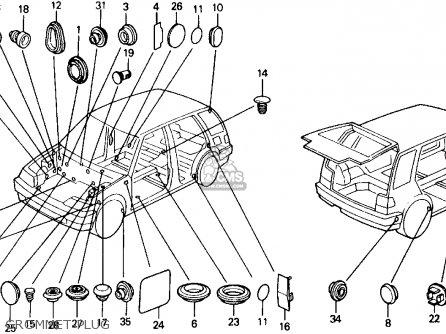 Honda Civic Wagon 1990 Wgn 4wd 1600 (ka,kl) parts list
