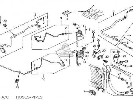Honda Civic Wagon 1991 Wgn Dx (ka,kl) parts list