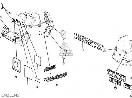 Honda Civic Wagon 4wd 1985 Wgn 4wd (ka,kl) parts list