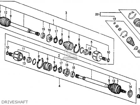 Honda Civic Wagon 4wd 1987 (h) Wgn 4wd (ka,kl) parts list
