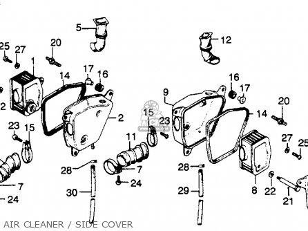 Honda CJ360T 1976 USA parts lists and schematics