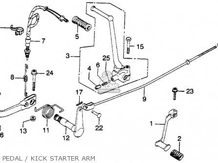 Honda Cj360t 1976 Usa parts list partsmanual partsfiche