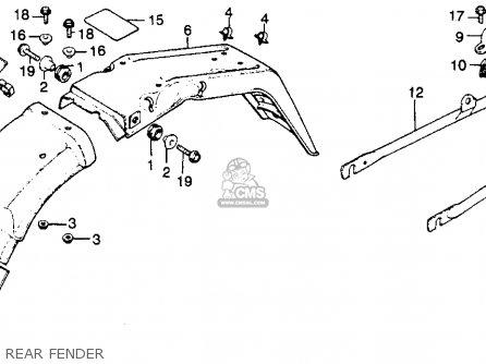Honda Cj360t 1977 Usa parts list partsmanual partsfiche