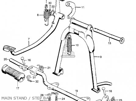 Honda Cl100 Scrambler 1971 K1 Usa parts list partsmanual