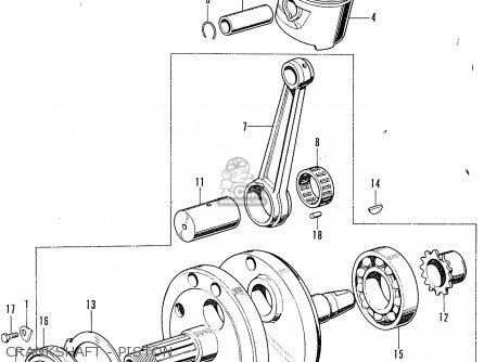 Honda Cl100 Scrambler 1972 K2 Usa parts list partsmanual