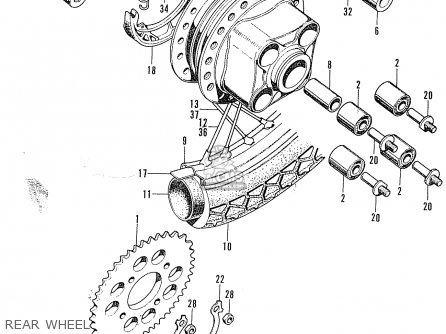 Honda CL100 SCRAMBLER 1972 K2 USA parts lists and schematics