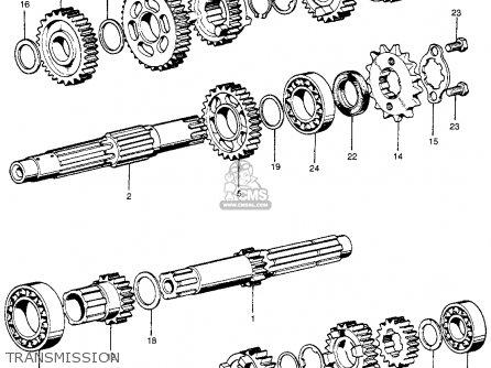 Honda CL100S SCRAMBLER 1971 K0 USA parts lists and schematics