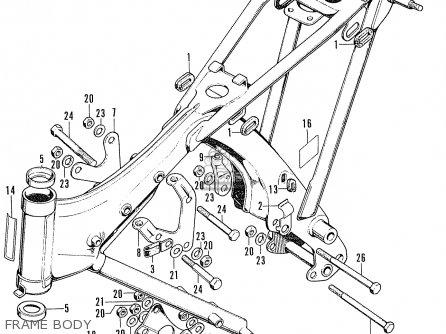 Honda Cl100s Scrambler 1972 K2 Usa parts list partsmanual