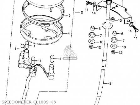 Honda Cl100s Scrambler 1973 K3 Usa parts list partsmanual