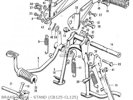Honda Cl125 K3 General Export parts list partsmanual
