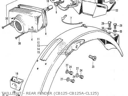 Honda CL125 K3 GENERAL EXPORT parts lists and schematics