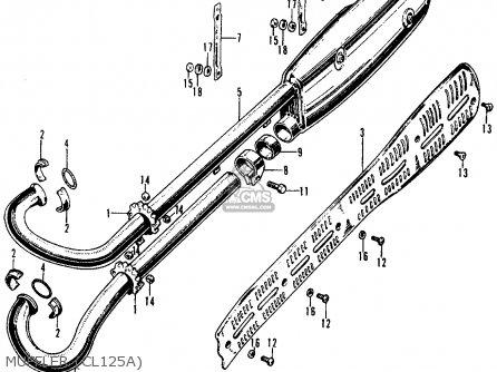 Honda CL125A SCRAMBLER 1967 USA parts lists and schematics