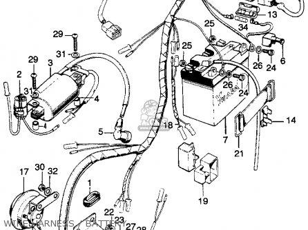 Honda Cl125s Scrambler 125 K0 1973 Usa parts list
