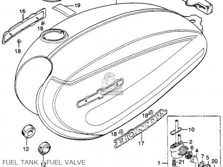 Honda Cl125s Scrambler 125 S1 1974 Usa parts list