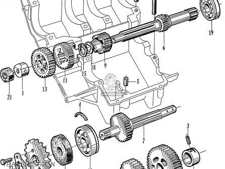 Honda CL160 SCRAMBLER GENERAL EXPORT parts lists and