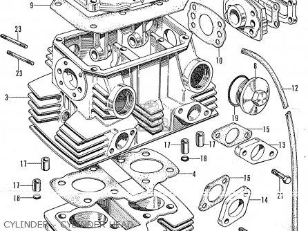 Honda Cl175 Scrambler 175 K0 (general Export) parts list