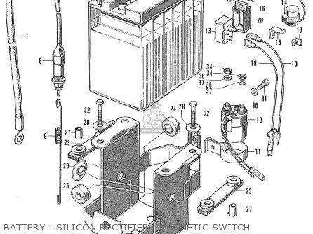 Honda Cl175 Scrambler 175 K5 1971 Usa parts list