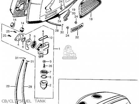 Honda Cl175 Scrambler 1969 K3 Usa parts list partsmanual