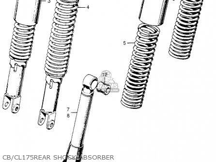Honda CL175 SCRAMBLER 1969 K3 USA parts lists and schematics