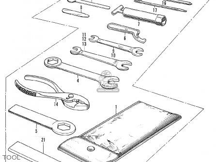 Honda CL175 SCRAMBLER 1970 K4 USA parts lists and schematics