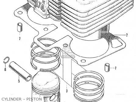 Honda Cl175 Scrambler 1971 K5 Usa parts list partsmanual
