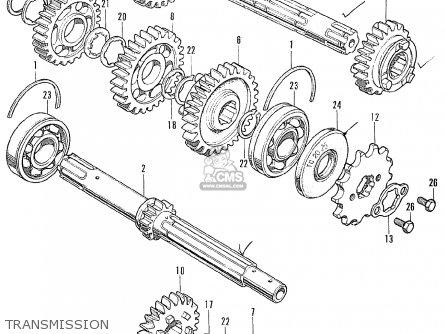 Honda CL175 SCRAMBLER 1971 K5 USA parts lists and schematics