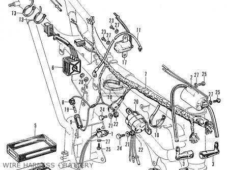 Honda CL175 SCRAMBLER K0 GENERAL EXPORT parts lists and