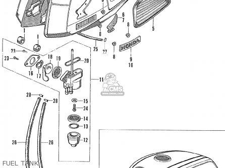 Honda Cl175 Carburetor Diagram Honda CL100 Carburetor