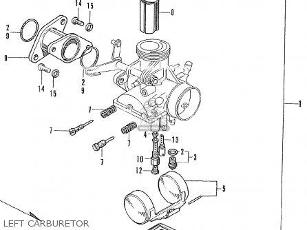 Honda Cl175 Scrambler K3 General Export parts list