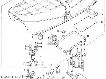 Honda Cl175 Scrambler K6 Australia parts list partsmanual