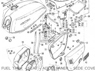 Honda Cl200 Scrambler 1974 Usa parts list partsmanual