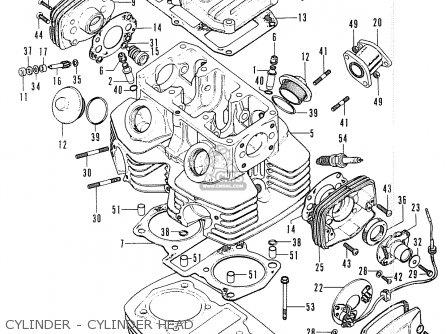 Honda Cl200 Scrambler 200 1974 Usa parts list partsmanual