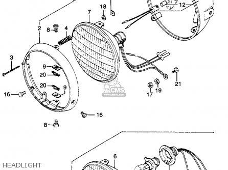 Honda Cl350 Scrambler 1968 K0 Usa parts list partsmanual