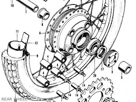 Honda Cl350 Scrambler 1971 K3 Usa parts list partsmanual