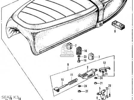 Honda CL350 SCRAMBLER 1971 K3 USA parts lists and schematics