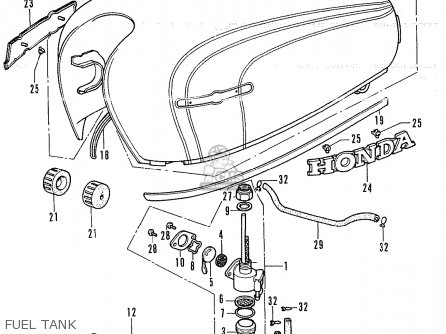 Honda CL350 SCRAMBLER 1972 K4 USA parts lists and schematics