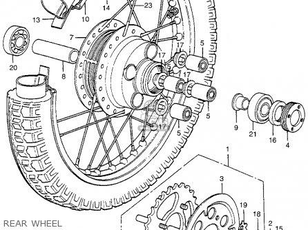 Honda Cl350 Scrambler 1973 K5 Usa parts list partsmanual